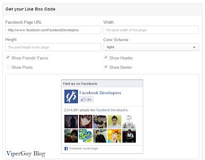 Cara Membuat Kotak Like Facebook Di Blog