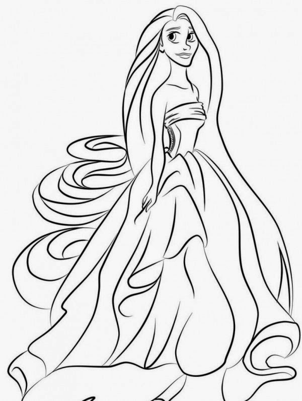 Coloring Pages Quot Tangled Quot Free Printable Coloring Pages Of Rapunzel Tangled Coloring Pages