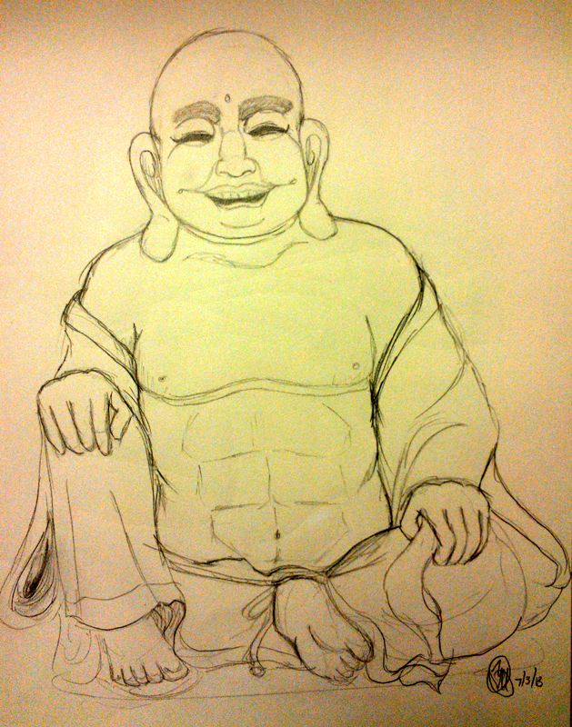 laughing buddha drawing - photo #24