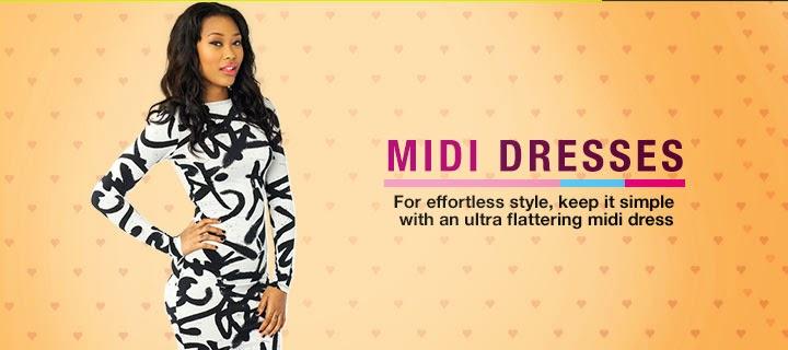 Midi Dresses on Sale - Buy Cheap Midi Dresses Online in Nigeria