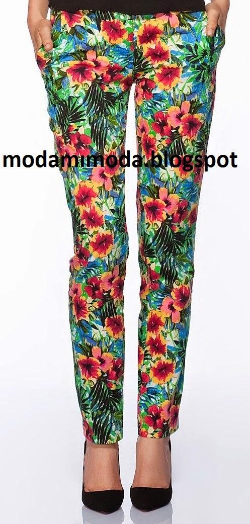 çiçekli sigaret pantolon