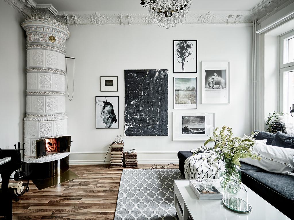 Decor inspiration charming swedish apartment cool chic - Dormitorio estilo vintage ...
