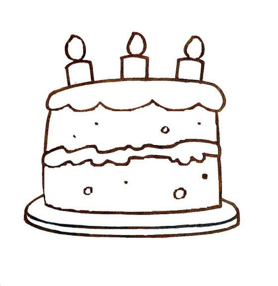 Dibujos infantiles: Dibujo infantil tarta