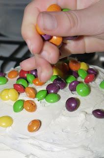 skittles, rainbow, cake, birthday cake