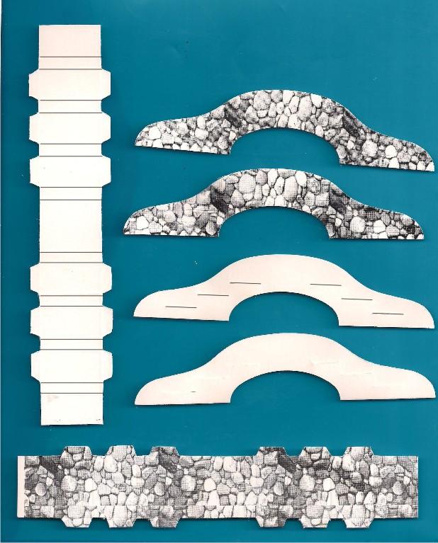 Elkin creaciones puente de cartulina para pesebre - Casitas para pesebre de carton ...