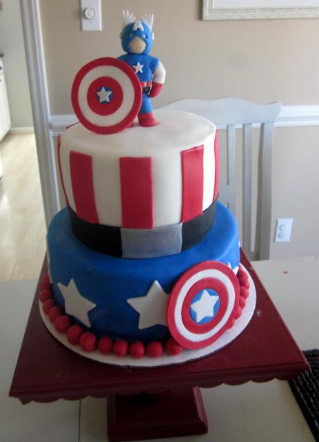 Darlin  Designs: Captain America Cake