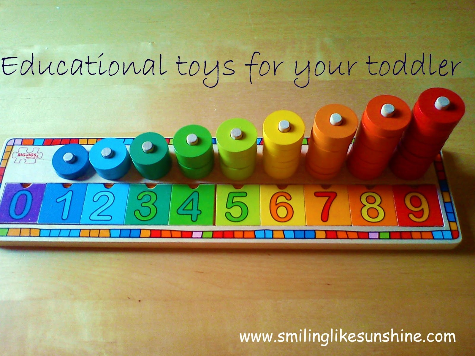 Smiling like Sunshine Educational toys for toddlers