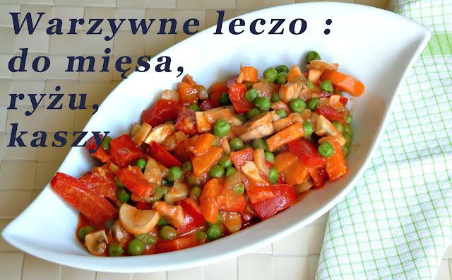 Leczo z samych warzyw jako dodatek do wszystkiego. Porcja ok. 180 kcal