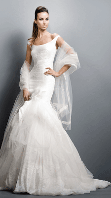 2011 Off Shoulder Wedding Dress