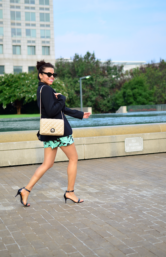 Zara tropical print shorts