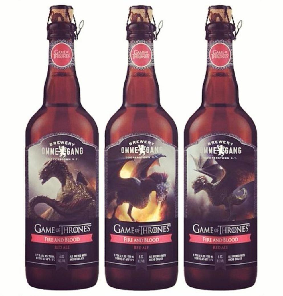 cerveza juego de tronos Ommengang Fire and Blood Red Ale - Juego de Tronos en los siete reinos