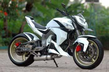 Modifikasi Honda Tiger warna putih