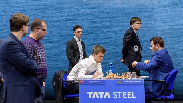 Carlsen en la cuarta ronda del Tata Steel Chess 2016