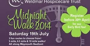 Weldmar Midnight Walk Weymouth Esplanade 19th July 2014