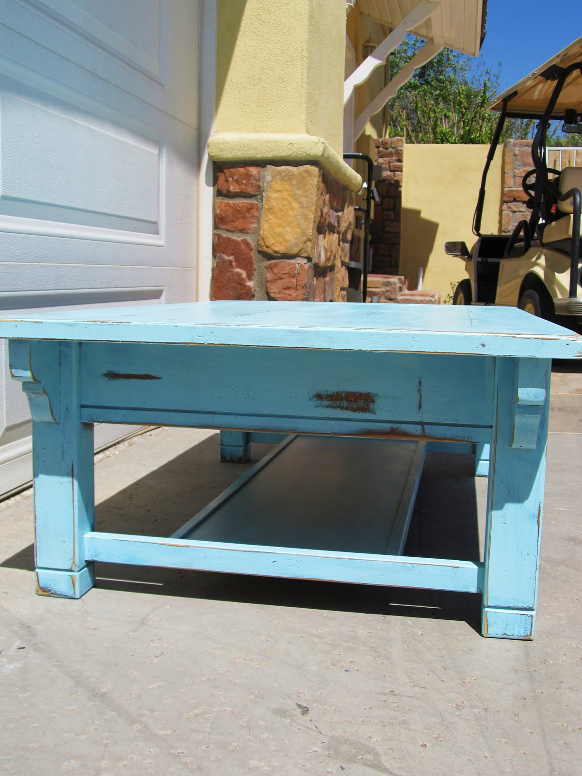 aqua coffee table