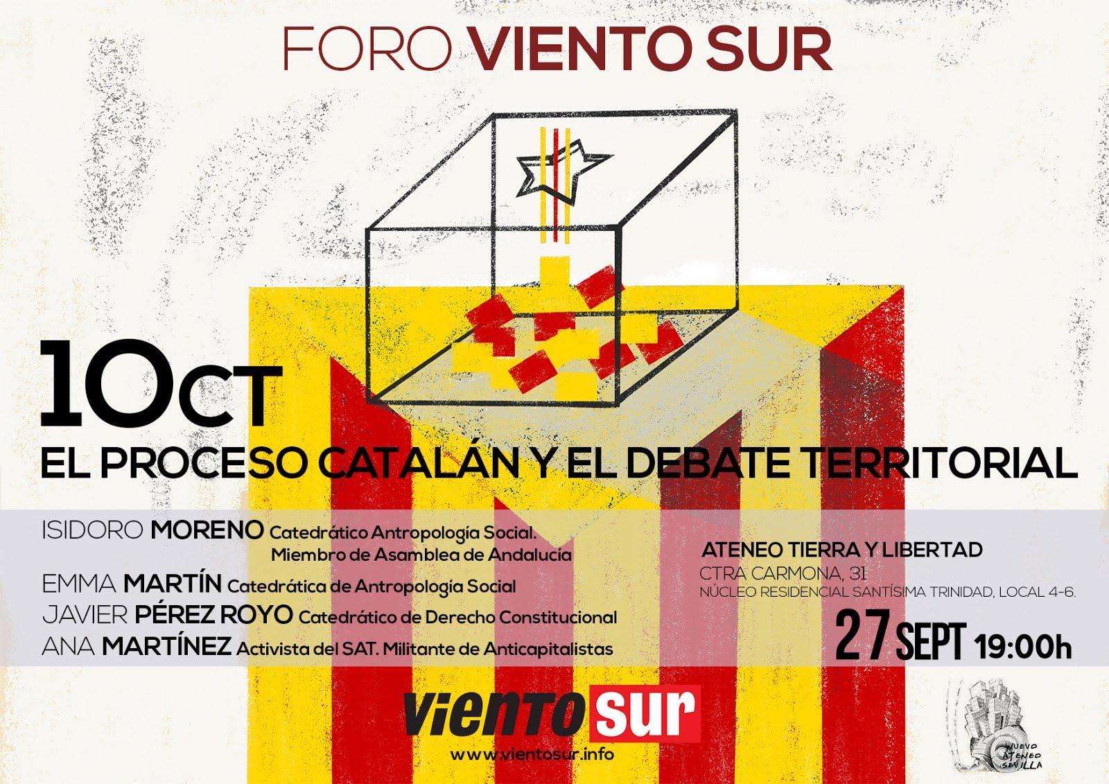 EL PROCESO CATALÁN Y EL DEBATE TERRITORIAL. Acto en Sevilla, el 27 septiembre, 19H