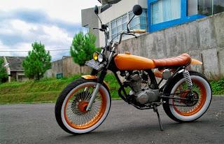 Honda CB dengan modifikasi beraliran jap's style