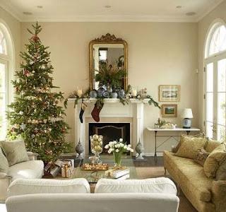 sala blanca navidad