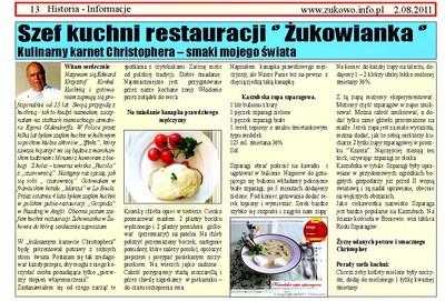 Publikacje w Polsce - Kulinarny karnet Christophera
