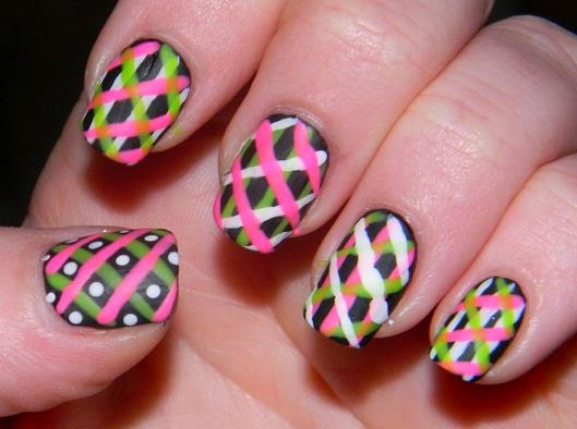 Stripes Nail Art Designs 3