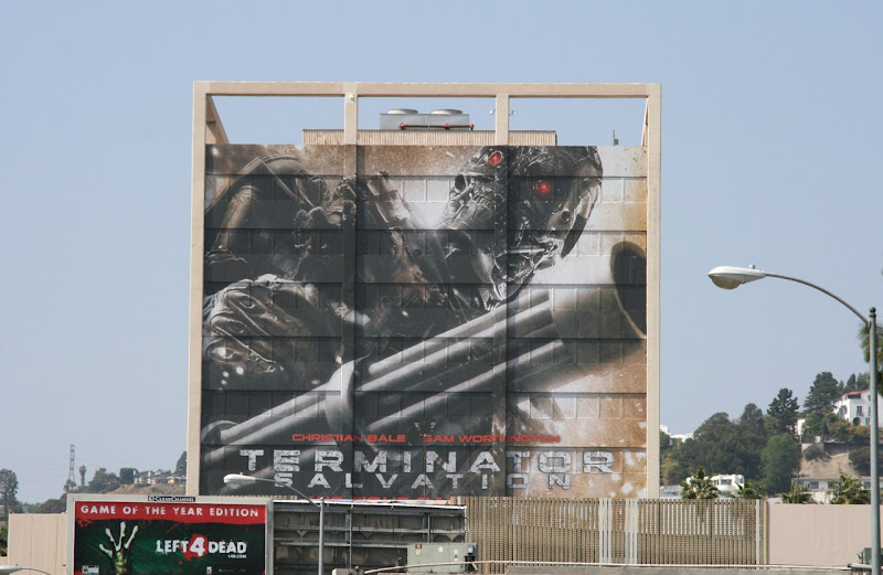 Giant Terminator Salvation billboard