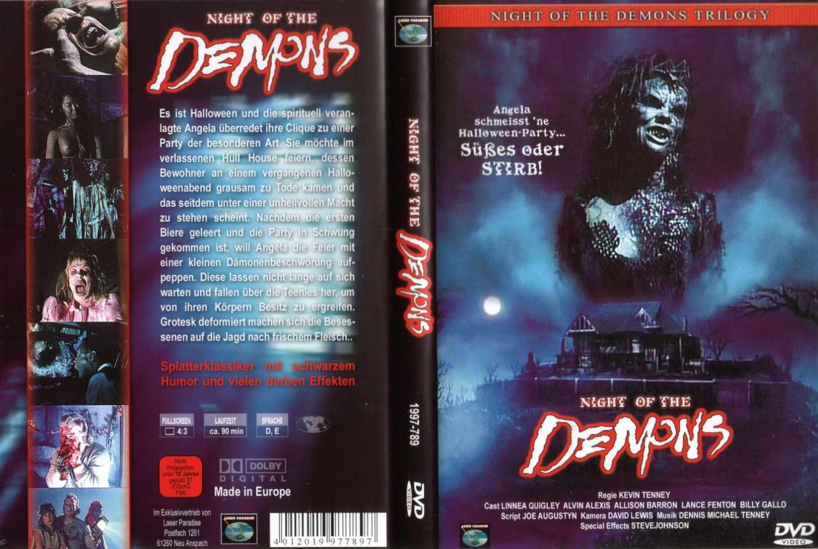 The Horrors Of Halloween: NIGHT OF THE DEMONS (1988 1997) Trilogy VHS And  DVD Covers