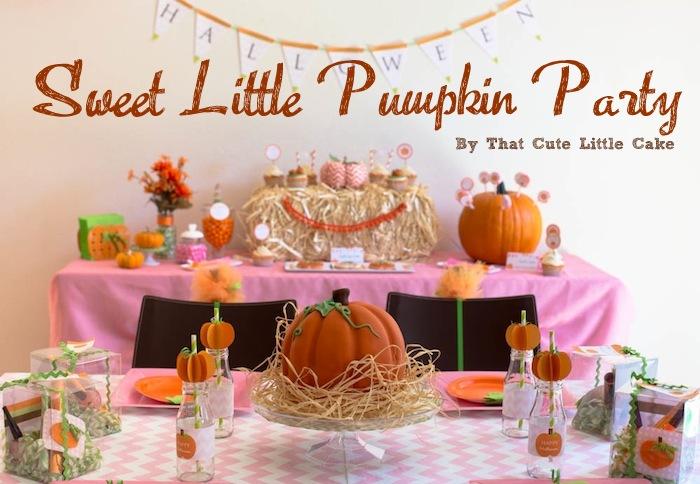 Birthday Party Set Decoration Ideas A Sweet Little Pumpkin