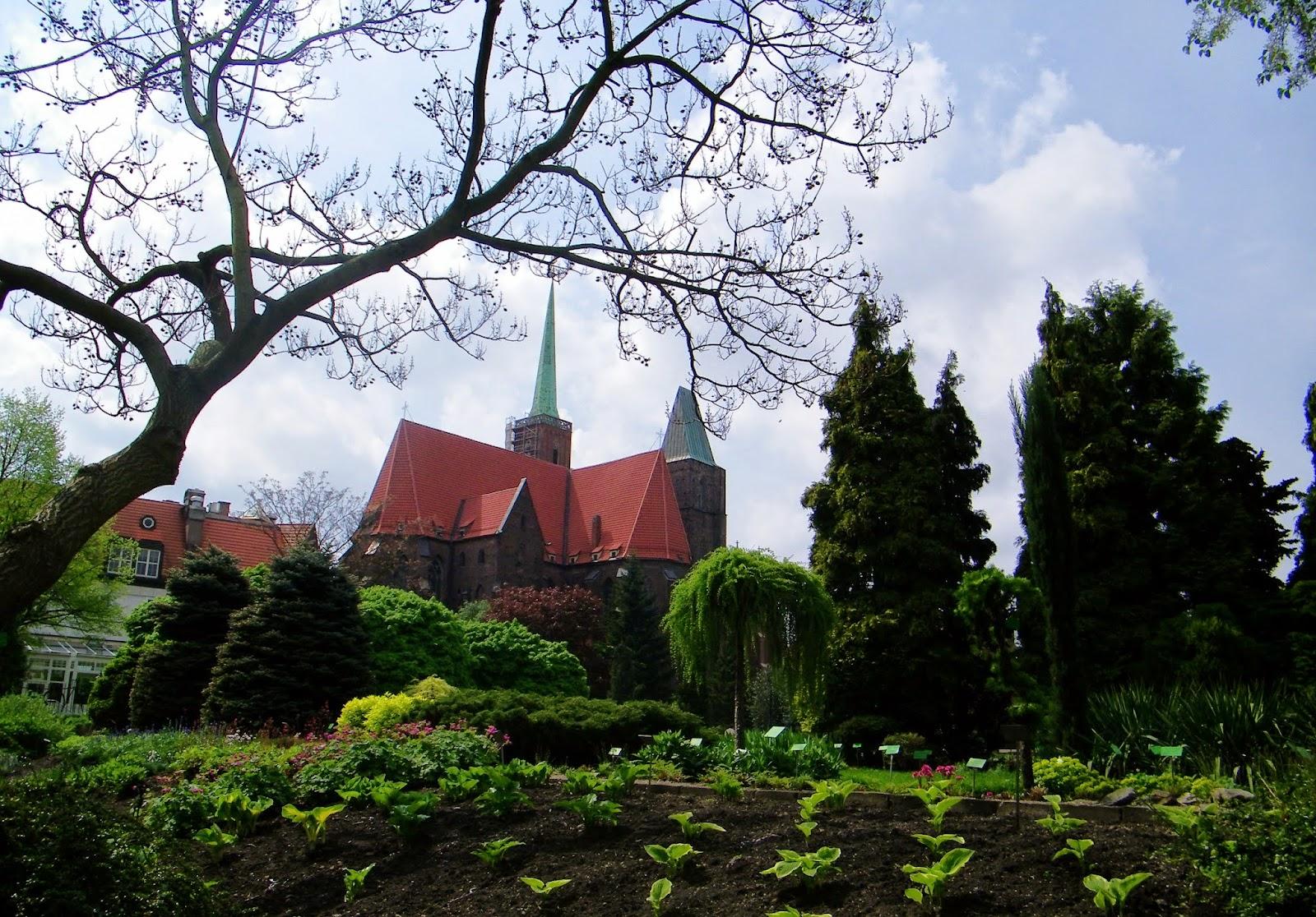 kościół św. Krzyża Wrocław Ogród botaniczny