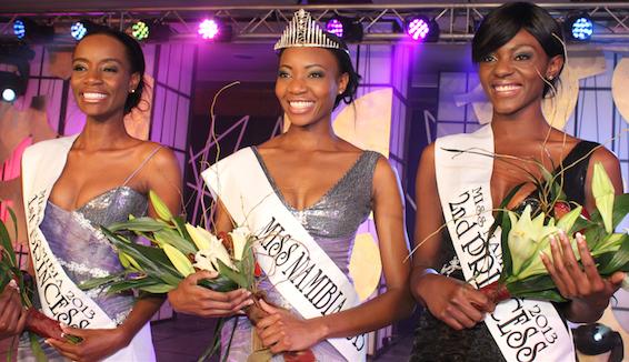 Miss Namibia 2013 winner Paulina Malulu