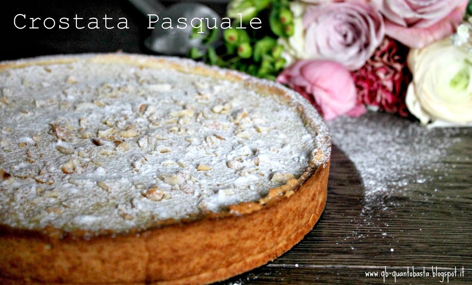 Q.b.-Quanto Basta: Crostata con colomba pasquale, confettura di ribes e crema leggera