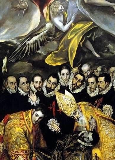 Detalle del cuadro del entierro del Señor de Orgaz