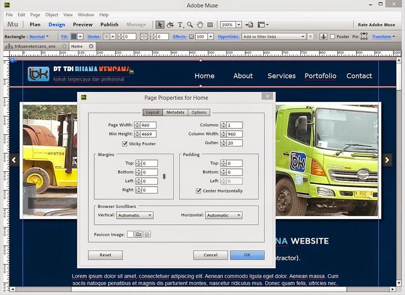 Membuat Website Tanpa Coding Dengan Adobe Muse 7