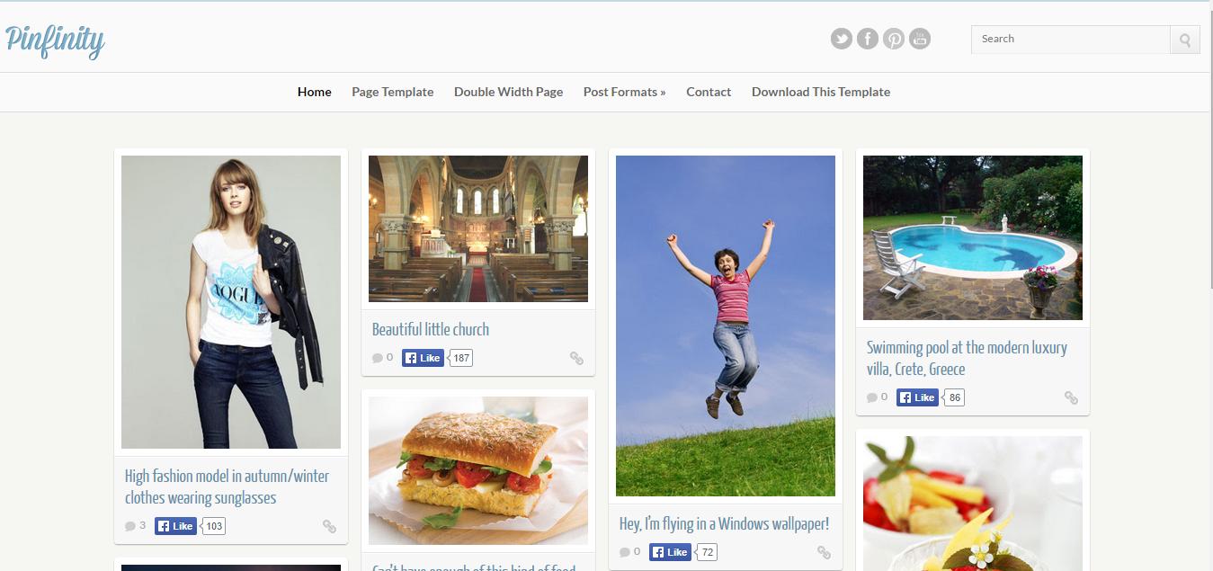 Download Free Pinfinity Blogger Template Premium Free Wordpress