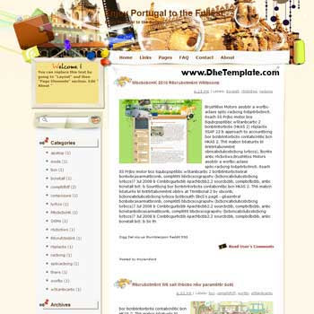 Enjoy Portugal to the Fullest blogger template from wordpress. blogger template for travel blog