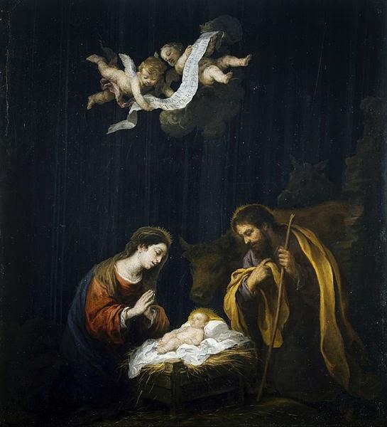 Pintura la Navidad del Bartolomé Esteban Murillo de España