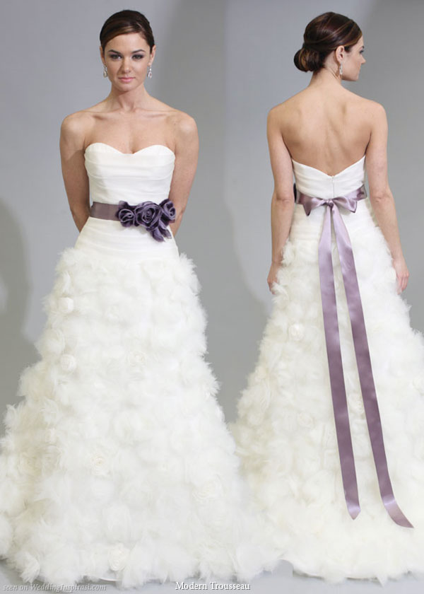 Purple Wedding Dresses For  : Bridal style and wedding ideas purple gowns