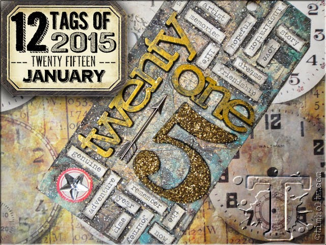 12 tags of 2015 de Tim Holtz blog