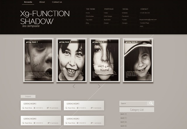 x9 Function Shadow Free Blogger Template Download