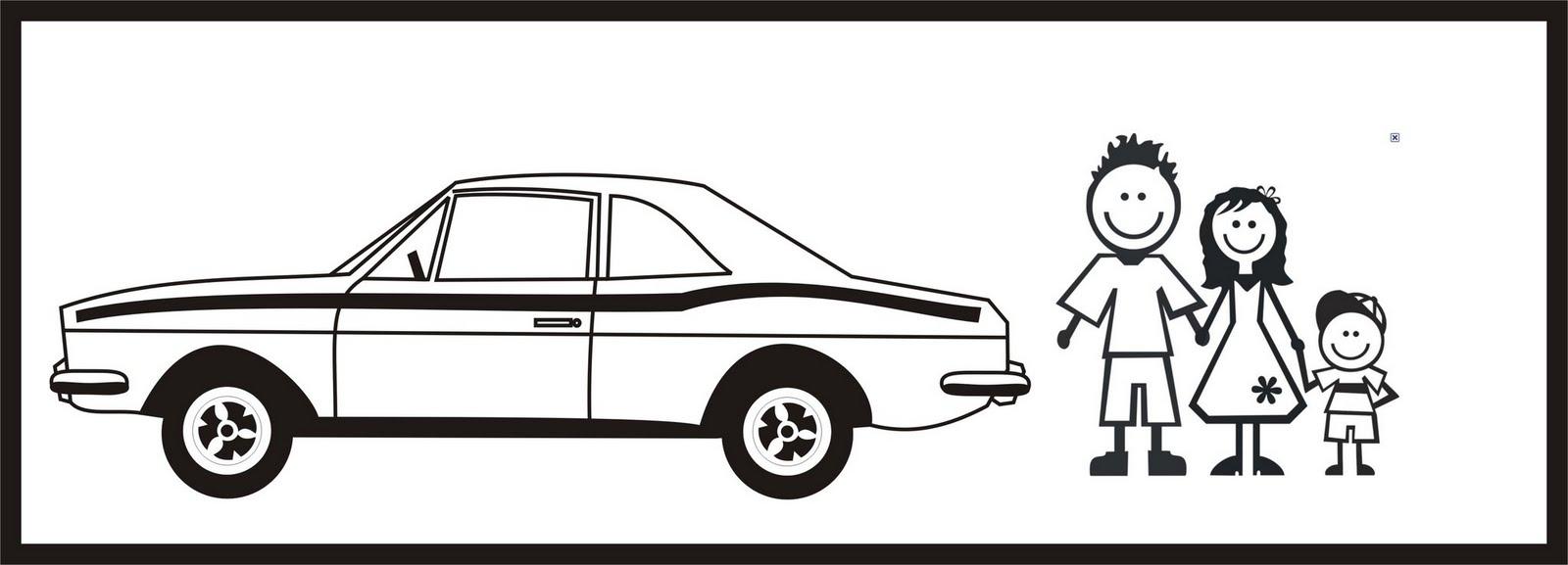 Artesanato Com Madeira Passo A Passo ~ Adesivo de Família (para colocar no carro) Corcel do Fred