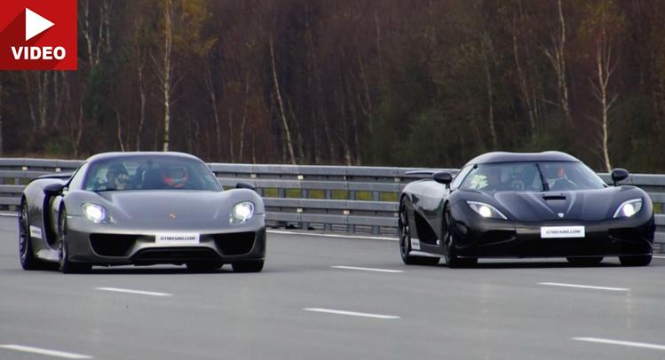 koenigsegg agera r destroys porsche 918 spyder in rolling start race