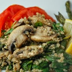 Chicken with mushrooms and Quinoa