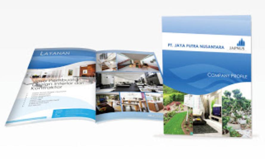... beberapa contoh desain profil perusahaan dalam bentuk booklet