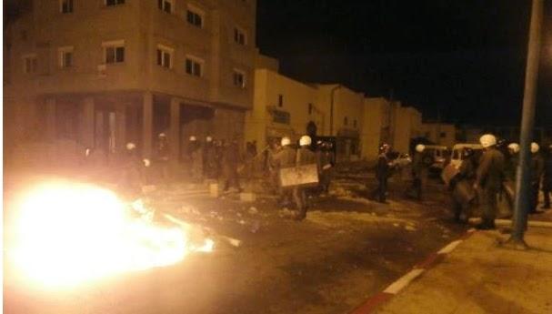 مواجهات عنيفة بين انفصاليين وقوات الأمن بالداخلة (صور)