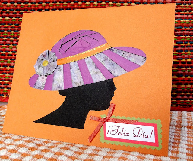 Tarjeta Mujer de sombrero