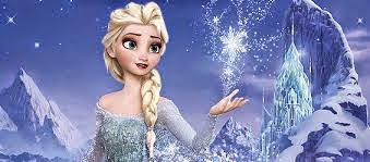 elsa frozen bermain salju