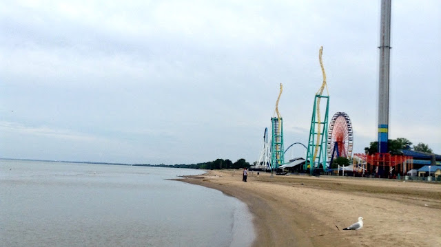 View from the water's edge @CedarPoint Hotel Breakers #bloggingatCP