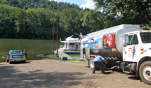 Wheeling Is. boat launch, doubling as a Diesel fueling station!.