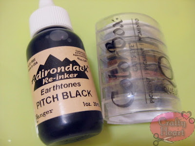 Adirondack Pitch Black Re-inker, ColorBox Pigment Ink Pad in Basics