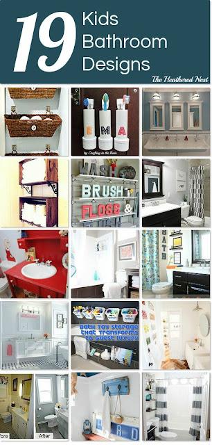 19 Fantastic Kids Bath Ideas from Hometalk and Heathered Nest