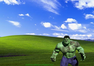 Desktop Wallpaper of The Incredible Hulk Fighting Monster in Countryside Landscape wallpaper